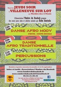 Portes ouvertes Danses et percu africaines