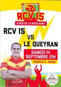 Rugby à XV : RCV reçoit Le Queyran