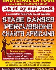 Stage de danses, percussions et chants Africian